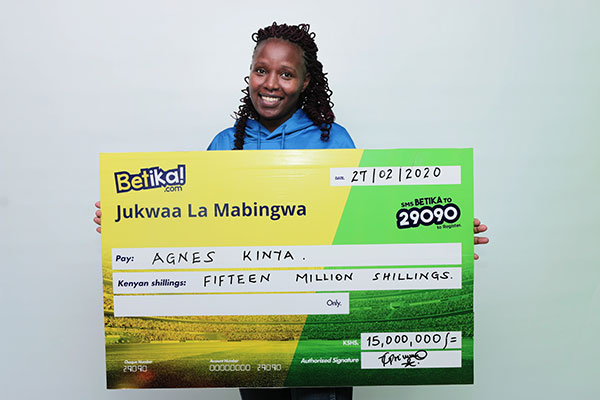 Makindu teacher is new KSh15 million Betika Midweek Jackpot winner