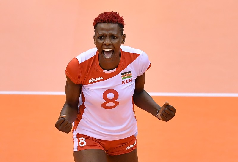 Kenyan volleyball star Atuka satisfied with knee rehab