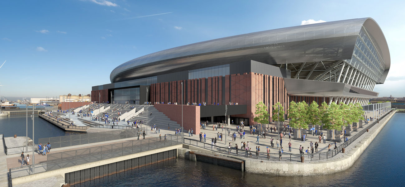 Everton unveil new plans for stadium on Liverpool's World Heritage Site