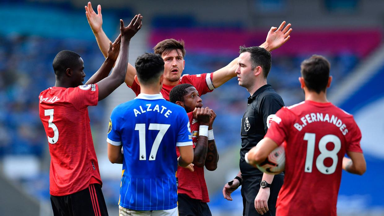 Penalty after final whistle gifts Man Utd win over Brighton
