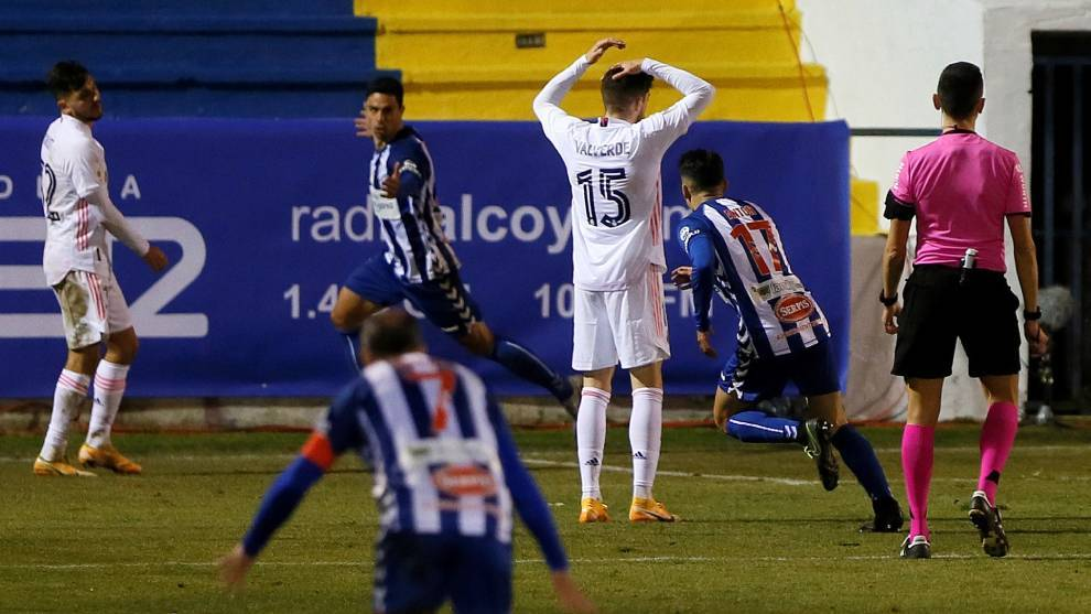 Third-tier Alcoyano send Real Madrid crashing out of Copa del Rey