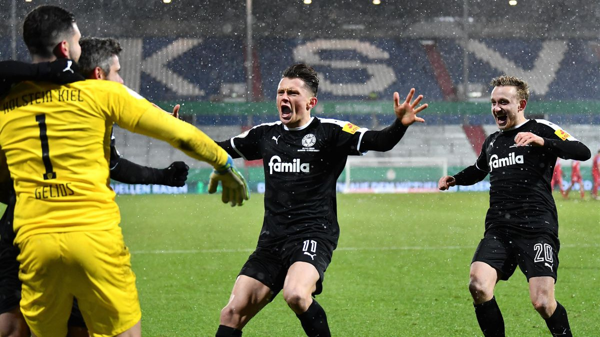 Second-tier Holstein Kiel knock Bayern out of German Cup