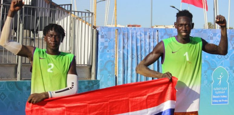 Gambian duo Jawo, Jarra back on the sand in search of Olympic ticket