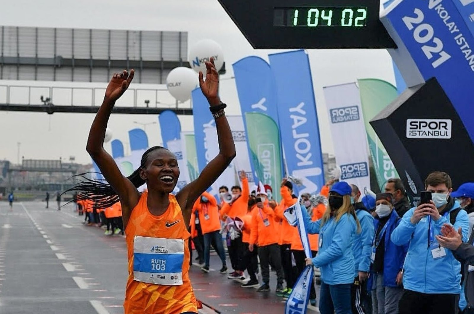 Kenya's Chepngetich breaks women's half marathon world record