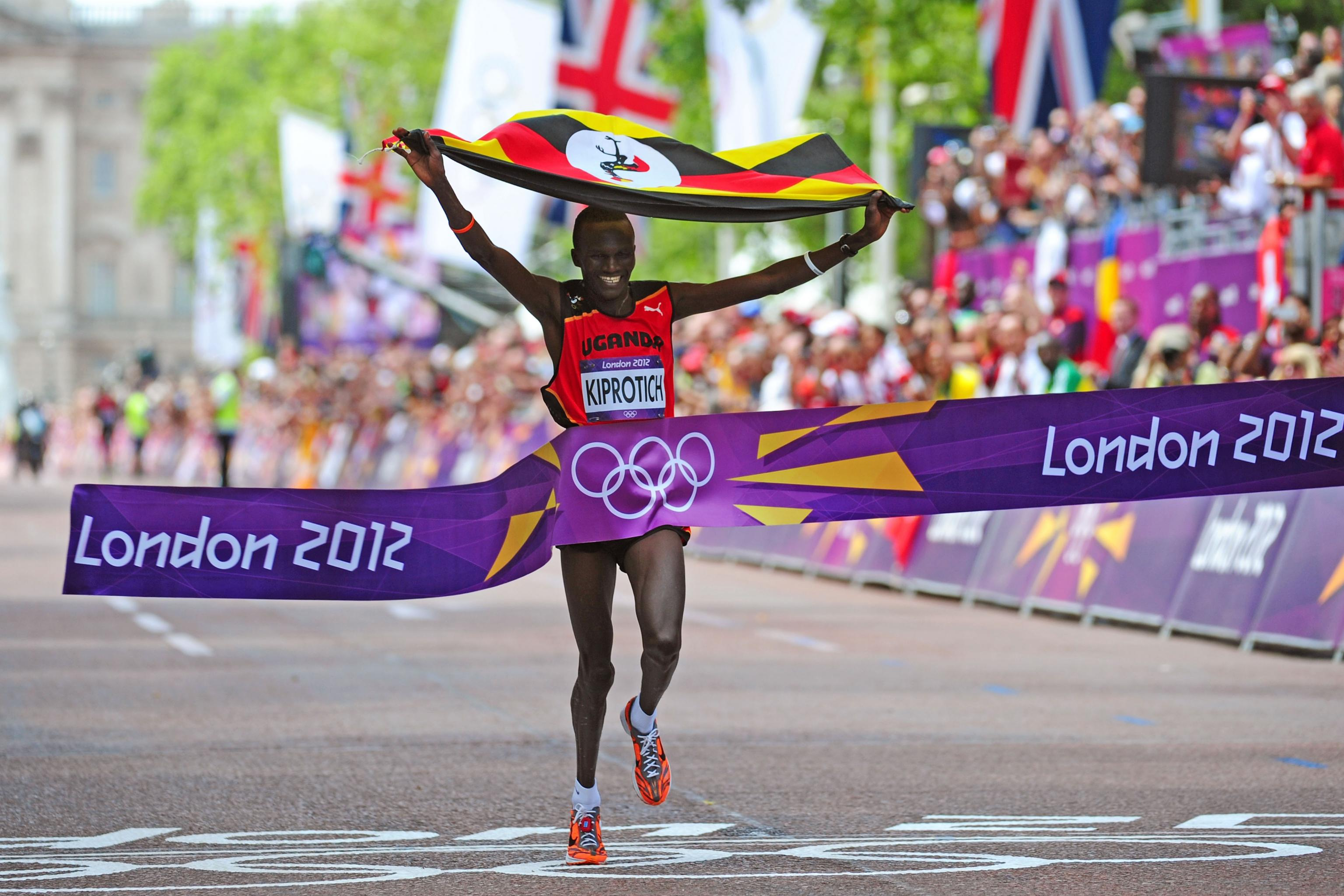 Uganda's 2012 Olympic gold medalist Kiprotich for NN Mission Marathon