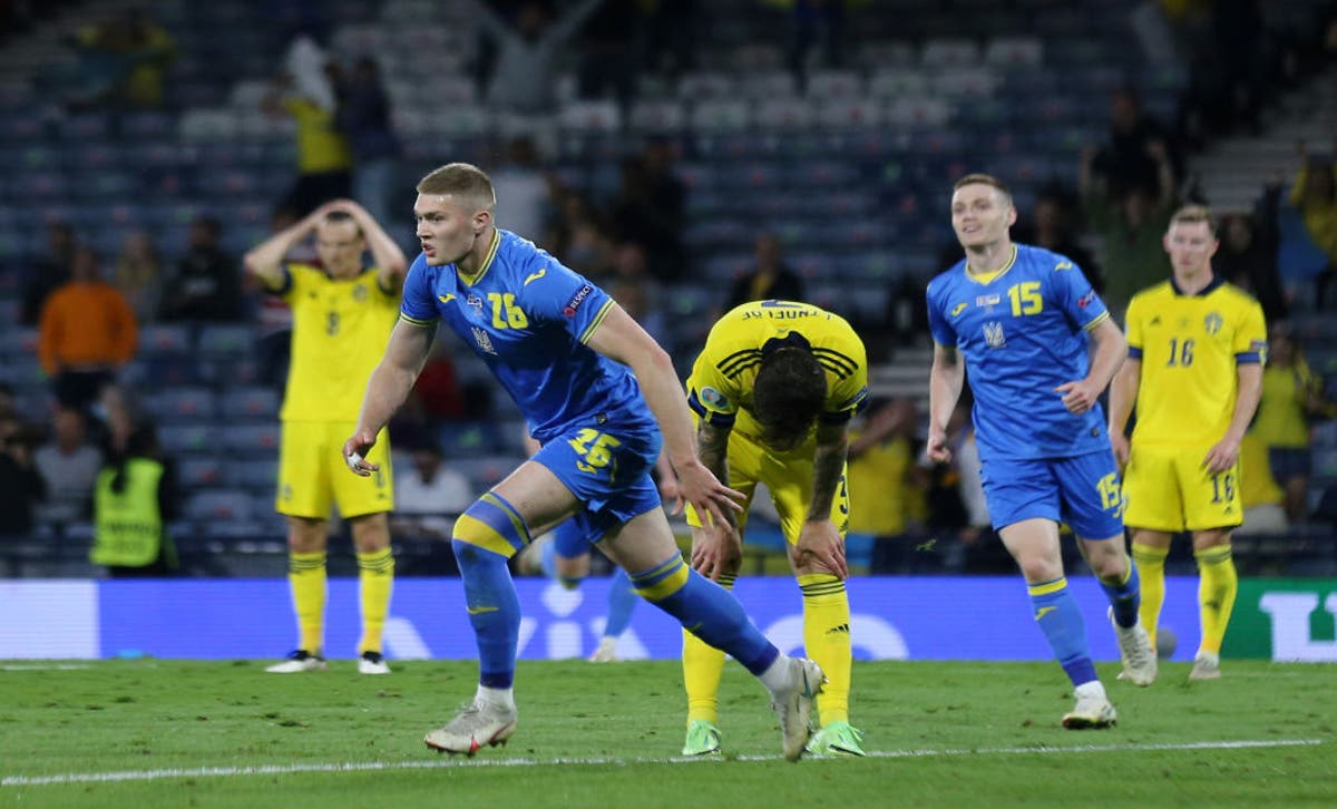 Ukraine's extra time winner knock out Sweden in Euro 2020 last 16