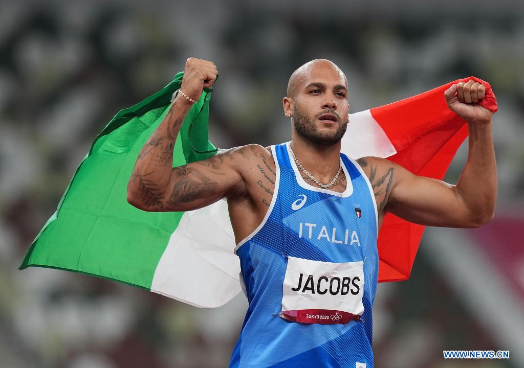 Italy's Jacobs wins men's 100m gold at Tokyo Olympics