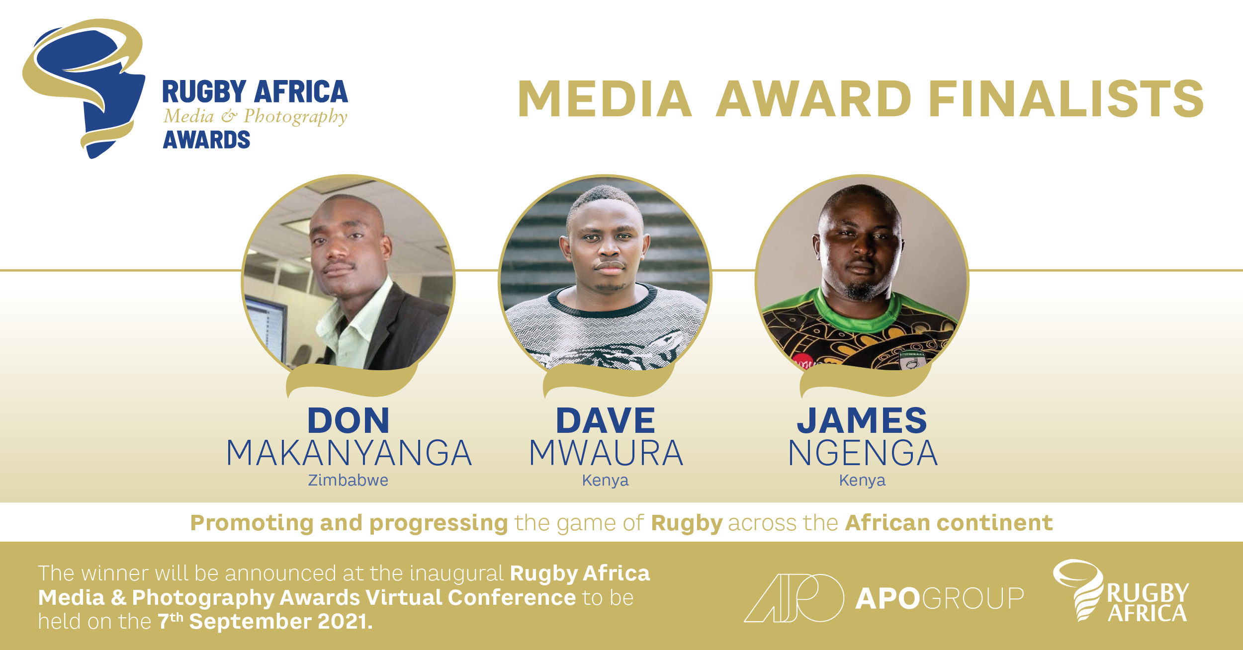 Finalists announced for the inaugural Rugby Africa Media and Photography Awards
