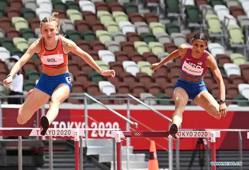 PHOTOS: US runner McLaughlin wins women's 400m hurdles with new world record