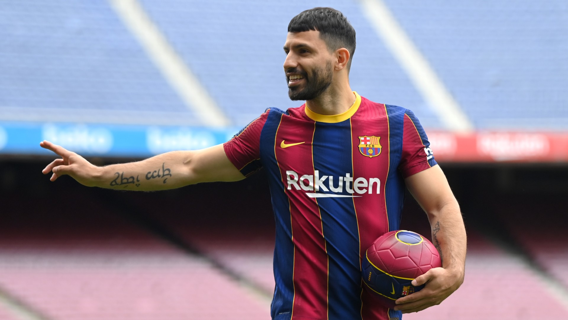 Aguero makes first appearance for Barca in friendly tie