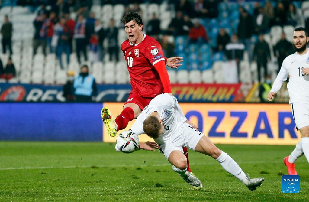 2022 Fifa World Cup: Serbia stay top after outclassing Azerbaijan